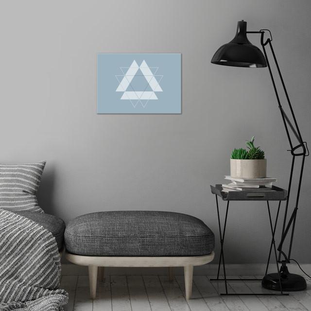 Symmetrical Geometric Design #1 wall art is showcased in interior