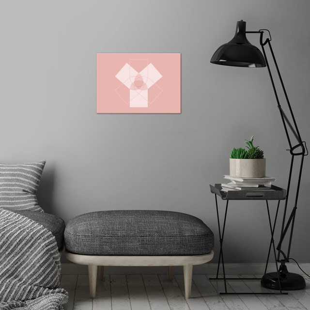 Symmetrical Geometric Design #5 wall art is showcased in interior