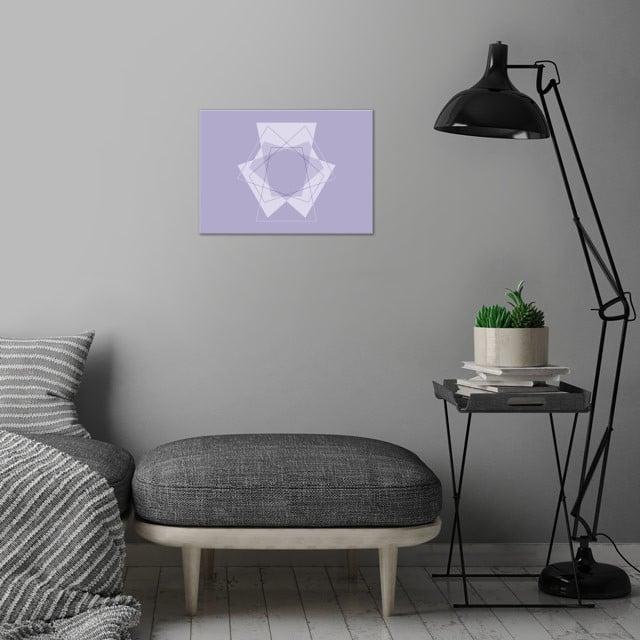 Symmetrical Geometric Design #2 wall art is showcased in interior