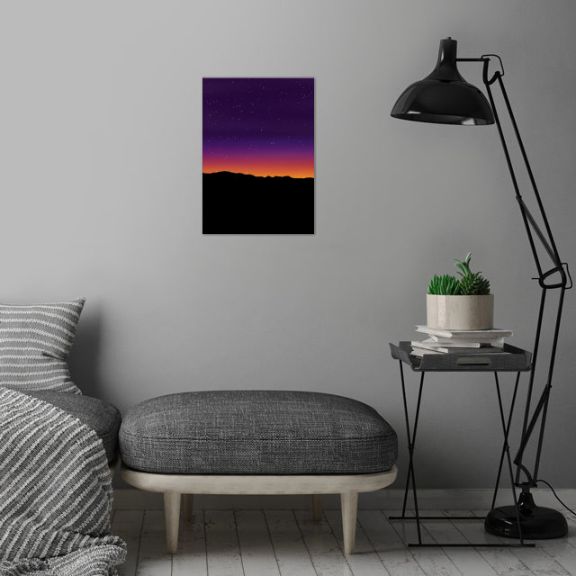 Aurora Horizon abstract wall art is showcased in interior