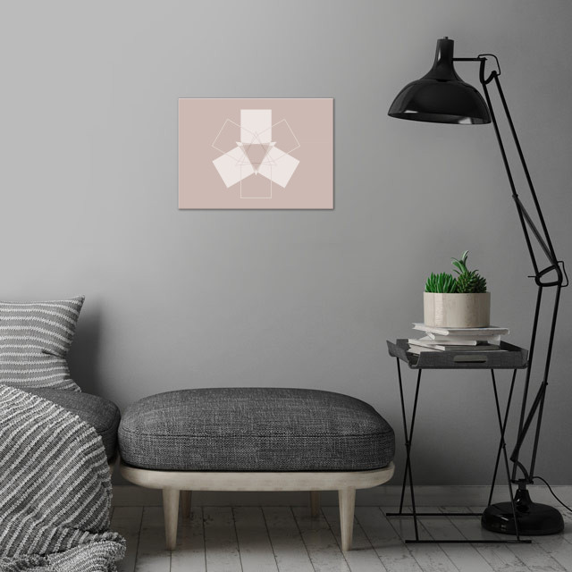 Symmetrical Geometric Design #11 wall art is showcased in interior