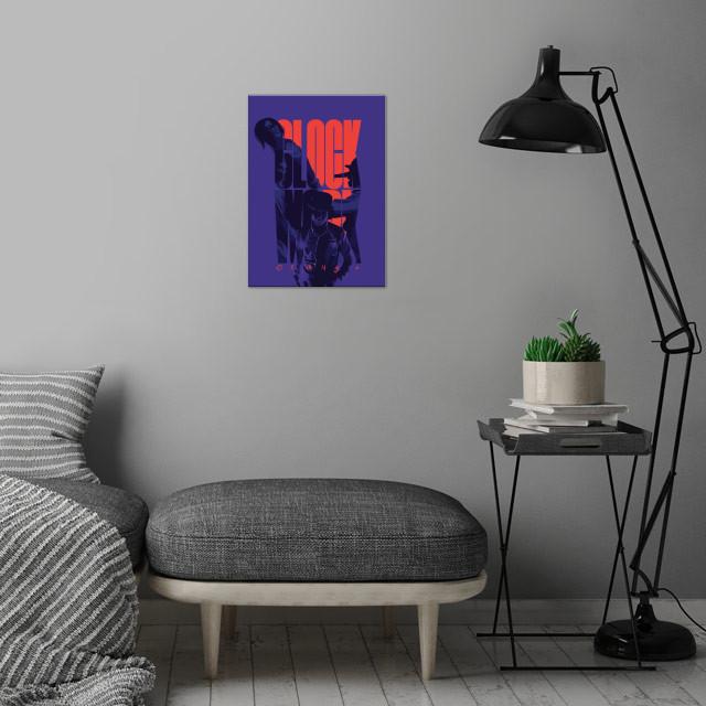 clockwork orange - alternative movie poster  wall art is showcased in interior