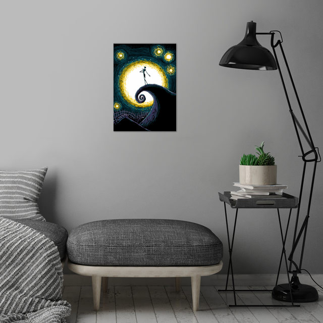 Starry Nightmare wall art is showcased in interior