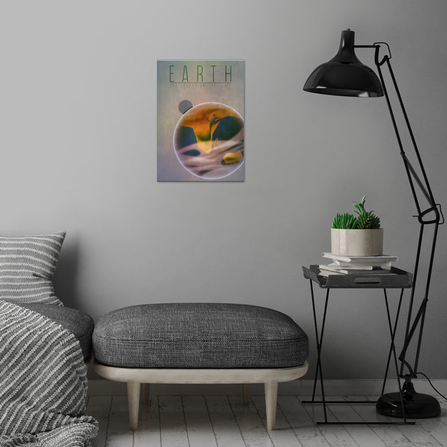 Earth - The Guardian of Life 3/9 in the complete set of... wall art is showcased in interior