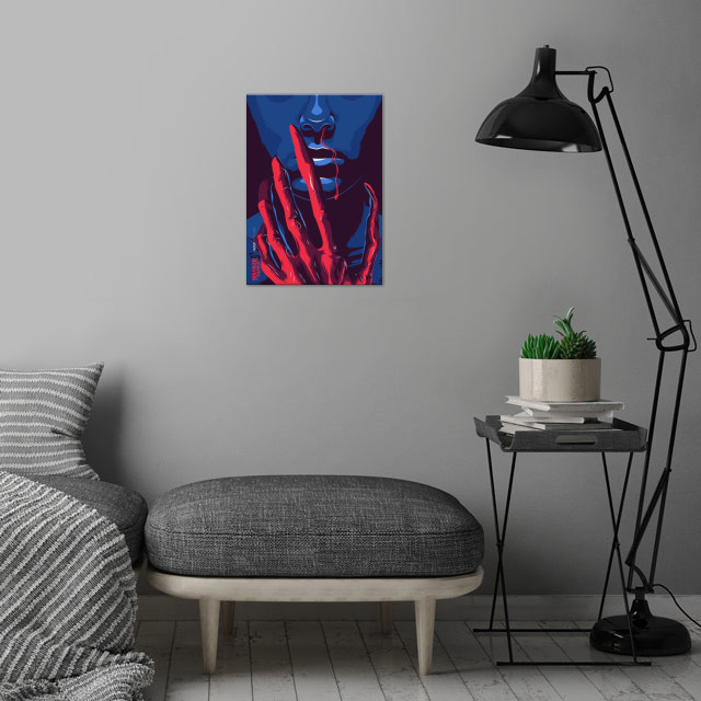 Stranger Things - alternative series poster wall art is showcased in interior