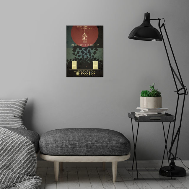 Fan art for one of my favourite movies of all time, The Prestige. wall art is showcased in interior