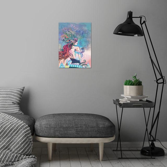 The Last Mermaid wall art is showcased in interior