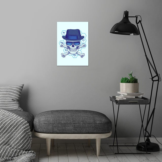 Chemical Head wall art is showcased in interior