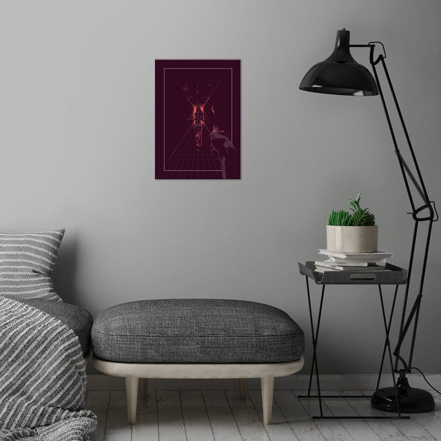 American Psycho - Alternative movie poster wall art is showcased in interior