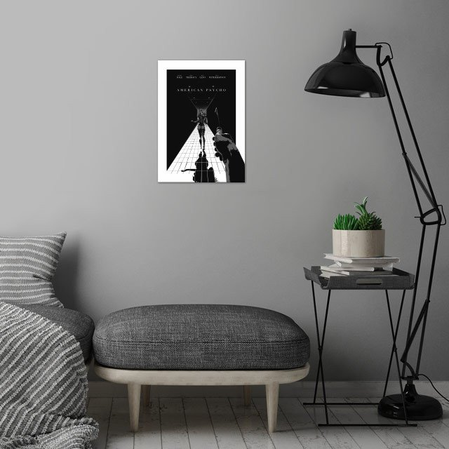 American Psycho - Altarnative movie poster / noir style / wall art is showcased in interior
