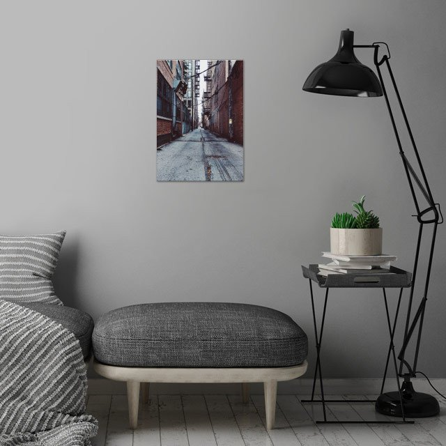 West Side, Chicago, Alleyway. wall art is showcased in interior
