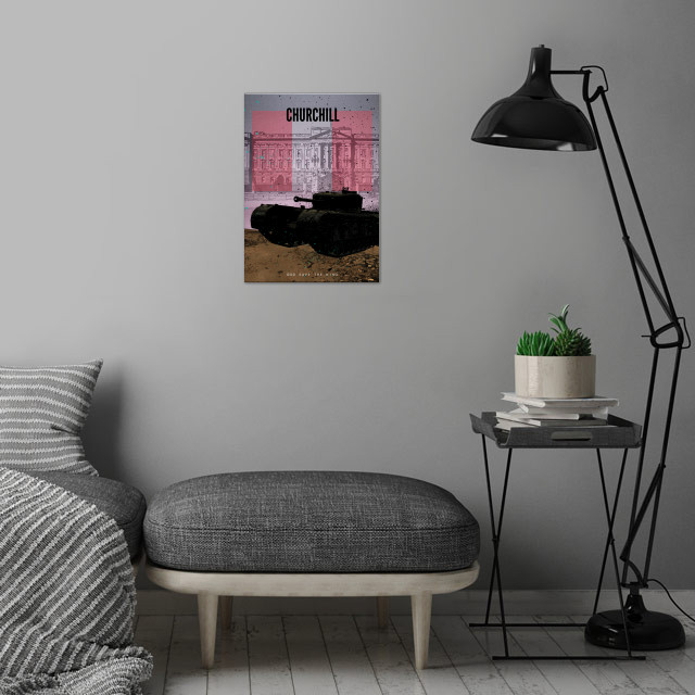 Achtung Panzer! British Churchill.  Yes I know that's n... wall art is showcased in interior
