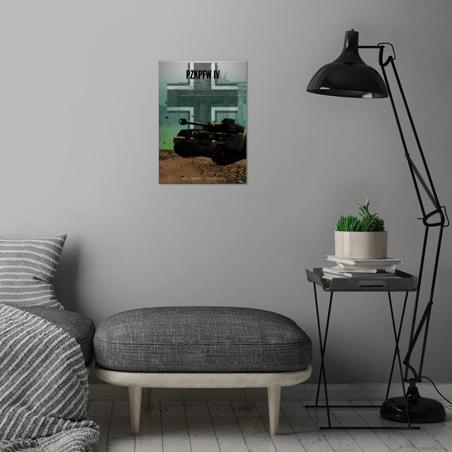 Achtung Panzer! PzKpfw IV wall art is showcased in interior