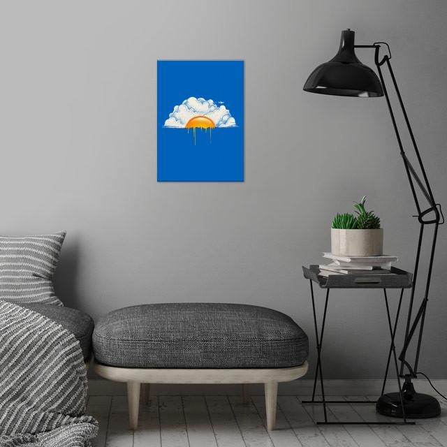 Breakfast wall art is showcased in interior