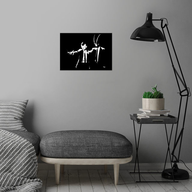 Z Fiction wall art is showcased in interior