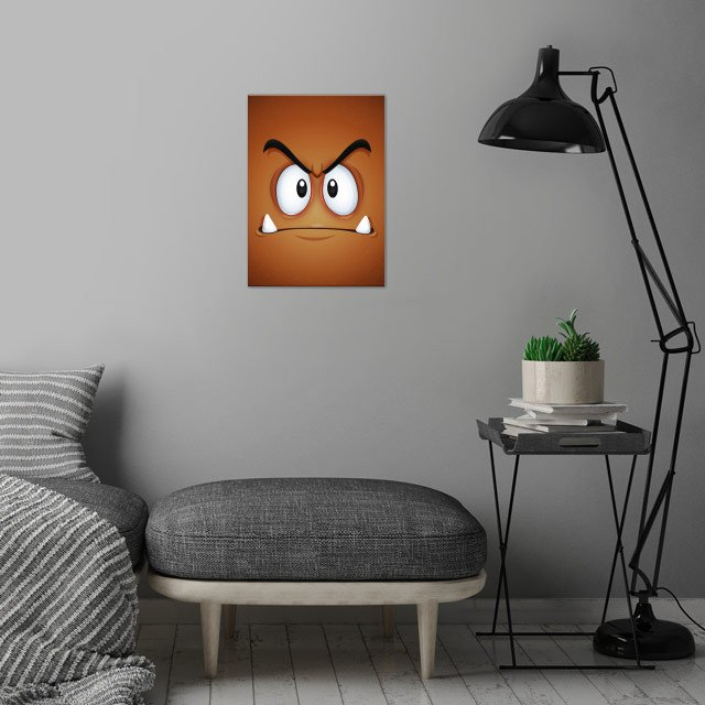 What will it feel being crushed by a fat plumber!? Face... wall art is showcased in interior