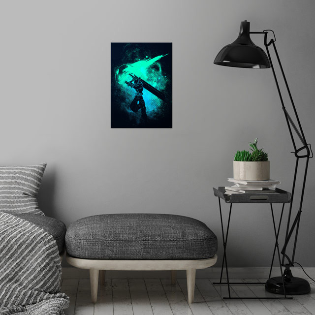 Meteor Art wall art is showcased in interior