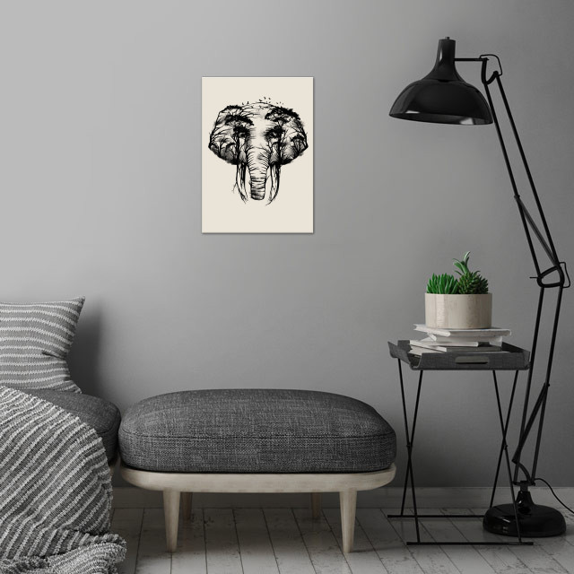 Wild Safari wall art is showcased in interior