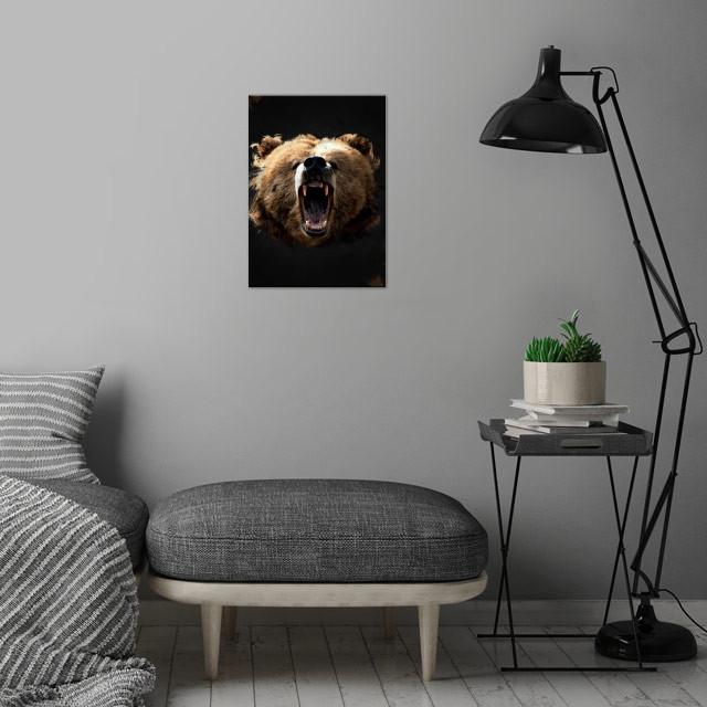 Wild Kings - Bear wall art is showcased in interior