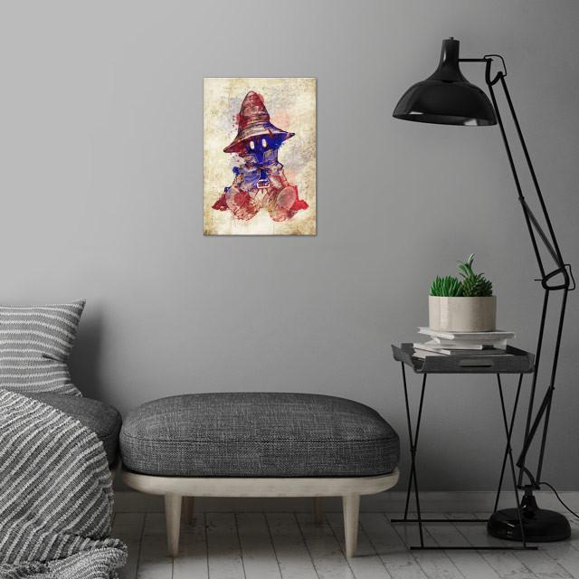 vivi ff9 wall art is showcased in interior