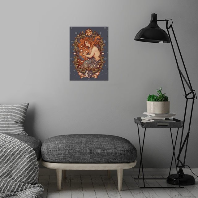 Inspired in one of my favourite songs, Cosmic Lover i .... wall art is showcased in interior
