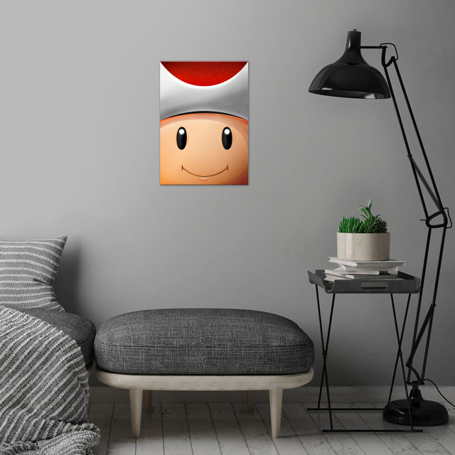 Toad Red! FaceGame. Illustration with highlights and sh... wall art is showcased in interior
