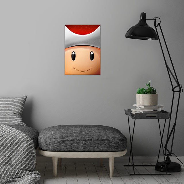 Toad Red! FaceGame. Illustration with highlights and shadows in Illustrator and Photoshop. http://bit.ly/2iFVST6 wall art is showcased in interior