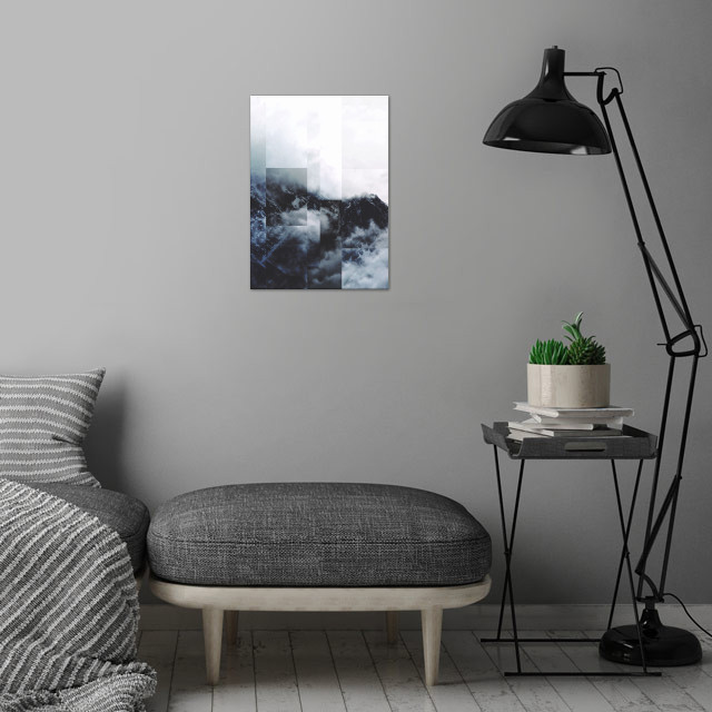 Fractions A81 wall art is showcased in interior