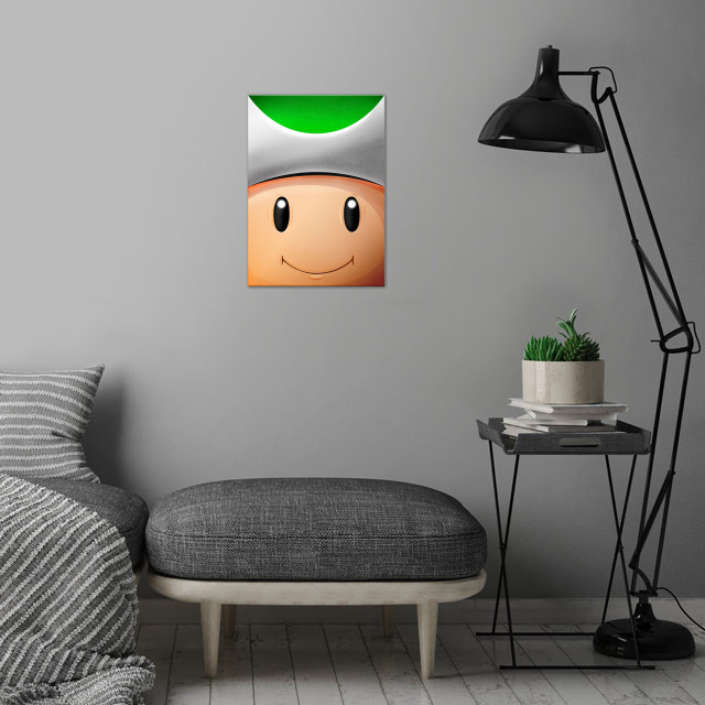 Toad Green! FaceGame. Illustration with highlights and ... wall art is showcased in interior