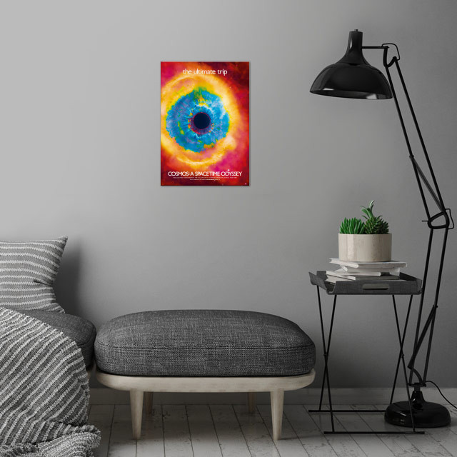 COSMOS: a spacetime odyssey. Sci-fi mash-up.  wall art is showcased in interior
