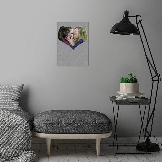 A digital pencil drawing of Tatiana Maslany and Évelyne Brochu as Cosima Niehaus and Delphine Cormier from Orphan Black. wall art is showcased in interior