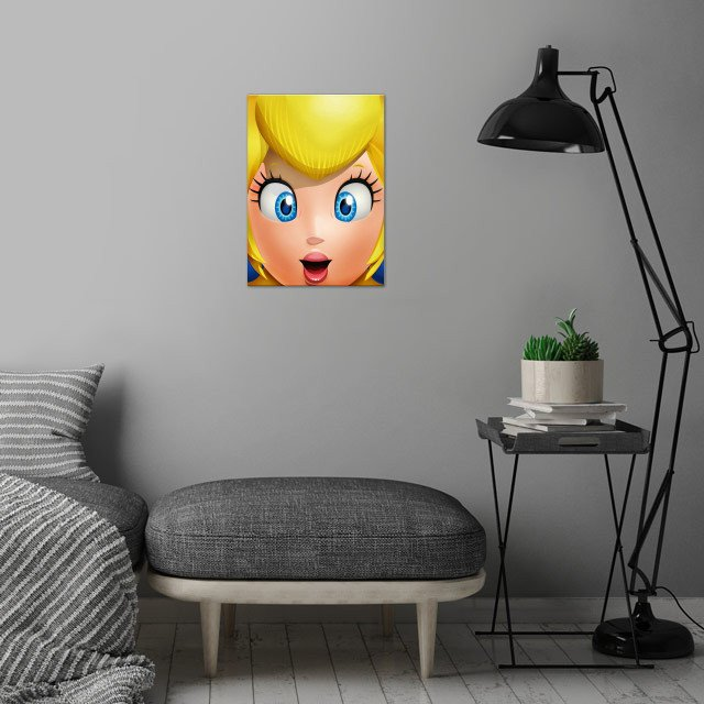 The beautiful Peach! FaceGame. Illustration with highlights and shadows in Illustrator and Photoshop. http://bit.ly/2jzvdZo wall art is showcased in interior