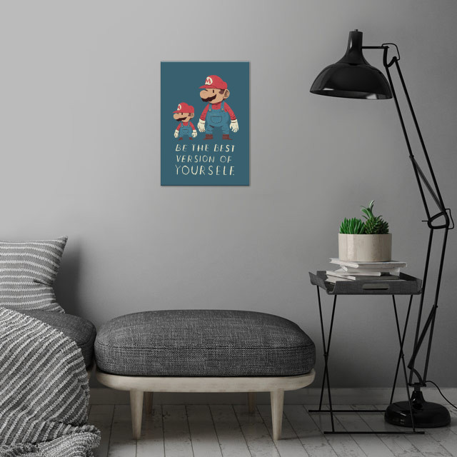 be the best version of yourself! wall art is showcased in interior