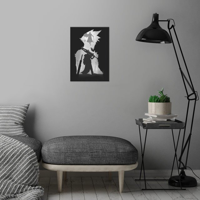 Final Fantasy wall art is showcased in interior