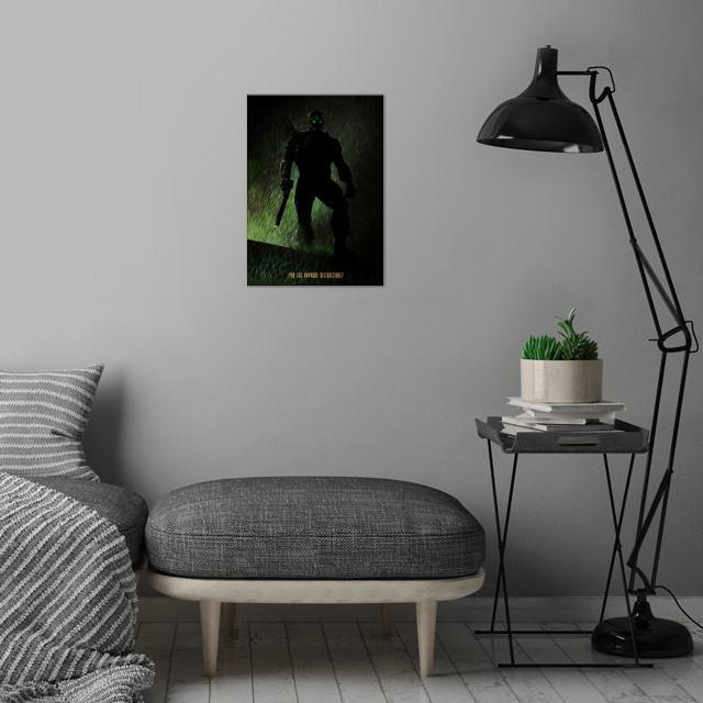 Splinter Cell wall art is showcased in interior