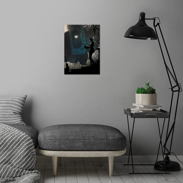 Glados Follower wall art is showcased in interior