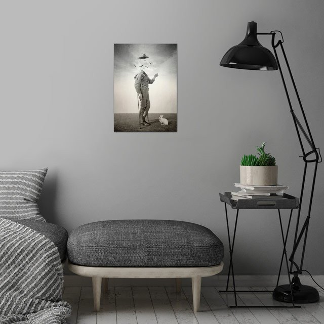 digital collage inspired b wall art is showcased in interior