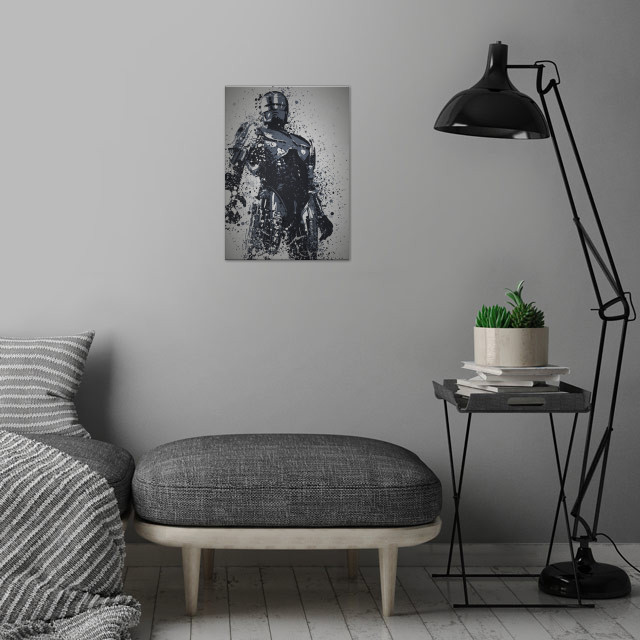 Dead or Alive, you're coming with me Splatter effect  .... wall art is showcased in interior