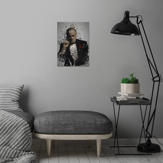 The Father Splatter effect artwork inspired by Don Vi .... wall art is showcased in interior