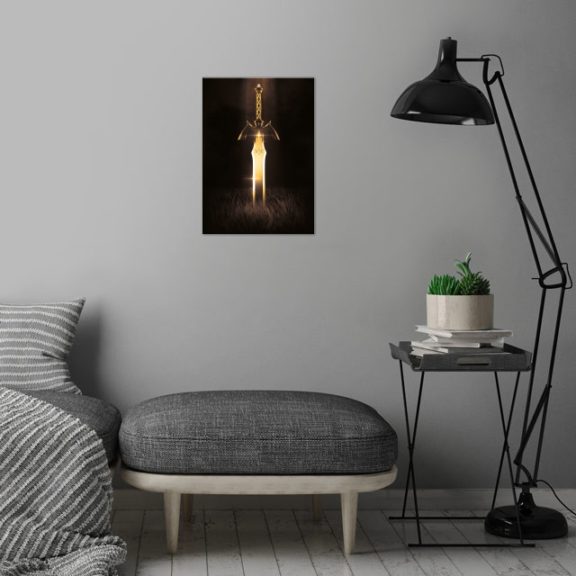 3D Master Sword · Gold Edition wall art is showcased in interior