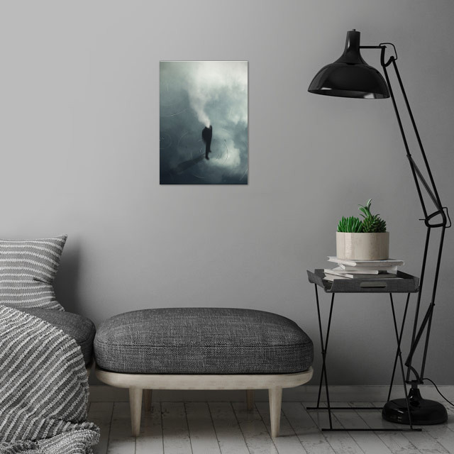 The Man Who Forgot to Dream wall art is showcased in interior