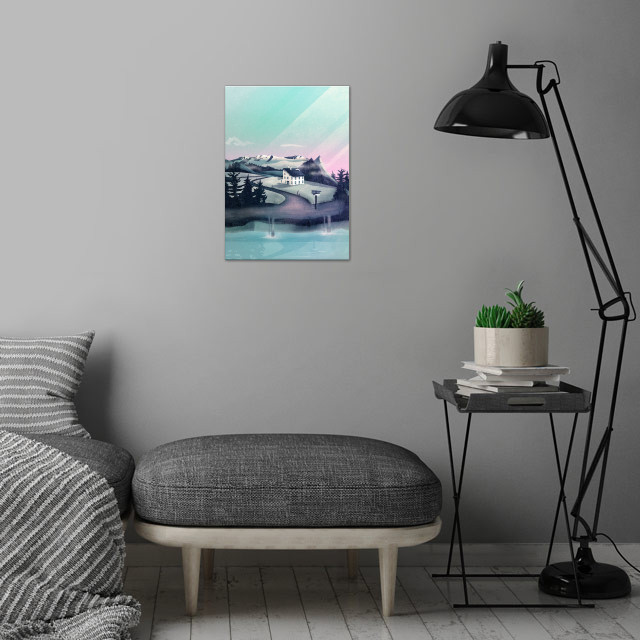 Digital Vector Art, 2017 wall art is showcased in interior