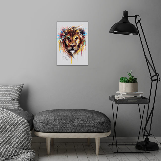 Lion (Alpha Series) wall art is showcased in interior