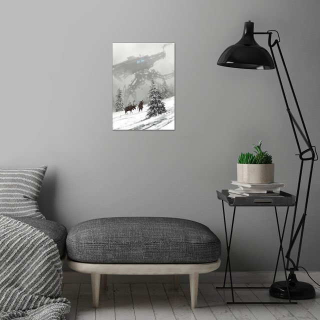 1920 - winter walker  from my 1920+ world and Scythe ga... wall art is showcased in interior