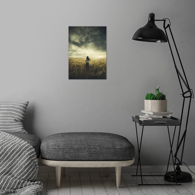 The Premonition wall art is showcased in interior