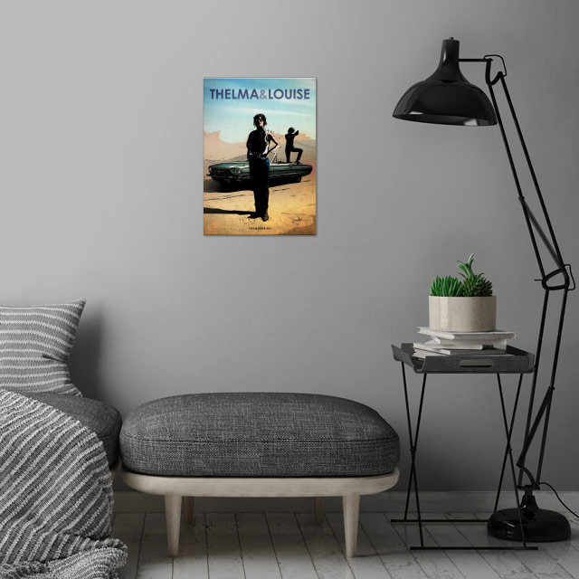 Thelma & Louise wall art is showcased in interior