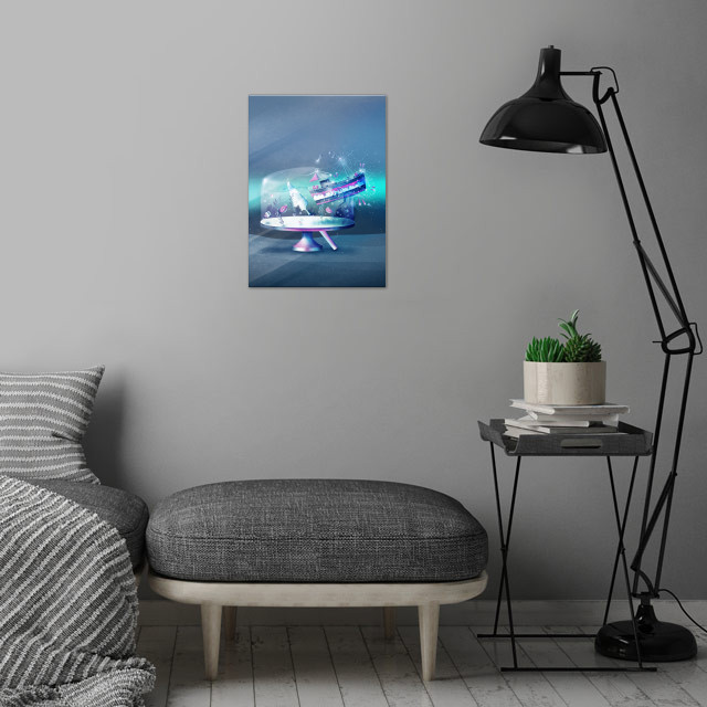 Sweet Escape | Digital Vector Art, 2017 wall art is showcased in interior