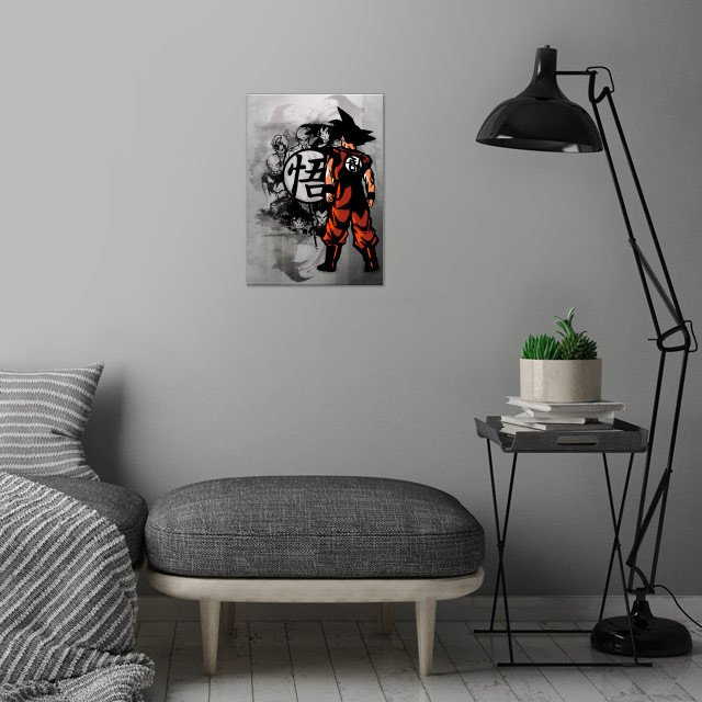 Saiyans wall art is showcased in interior