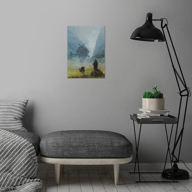 warlord wall art is showcased in interior