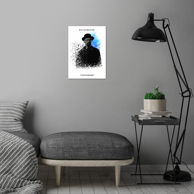 002 Heisenberg edition wall art is showcased in interior